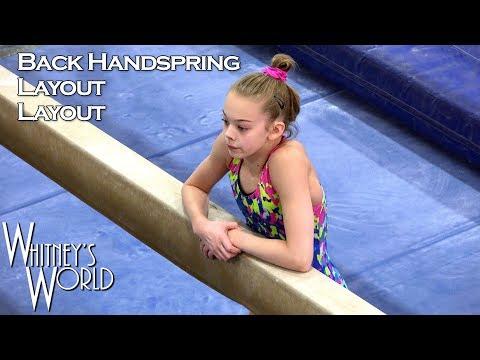 Back Handspring Layout-Layout on Beam   Whitney Bjerken Gymnastics