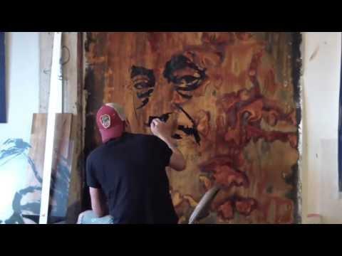 Painting Serge Gainsbourg | Artist Jeremy Penn