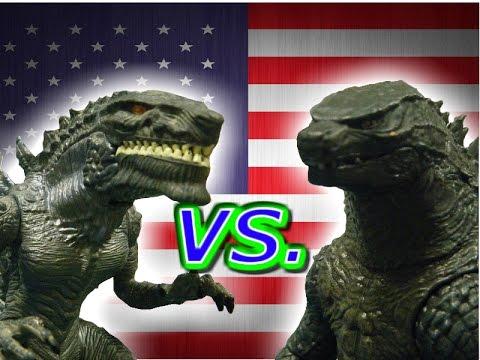 Godzilla (1998) VS. Godzilla (2014)-Stop motion toy battle ...