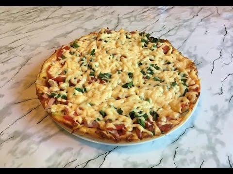 Домашняя Пицца на Сковороде/Pizza in a pan/Простой Рецепт(Быстро и Очень Вкусно)