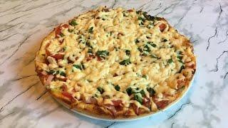 Домашняя Пицца на Сковороде / Pizza in a Pan / Простой Рецепт Пиццы (Быстро и Очень Вкусно)