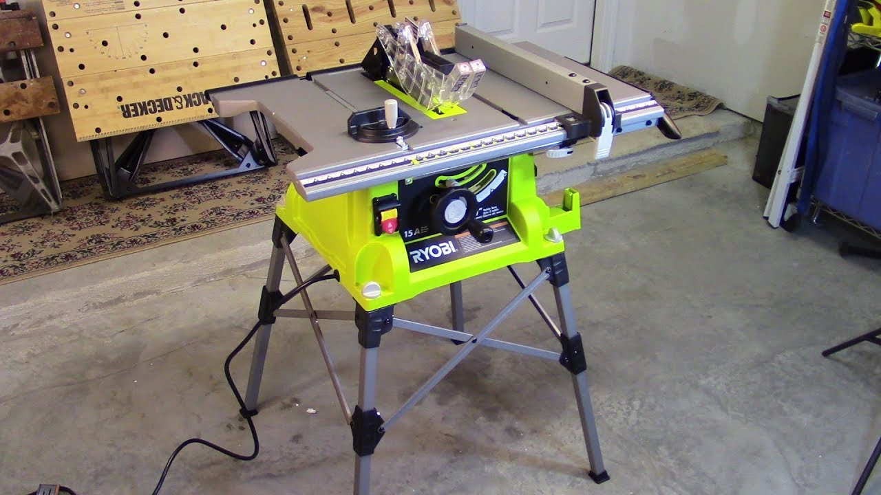 How To Set Up Your New Ryobi Portable Table Saw