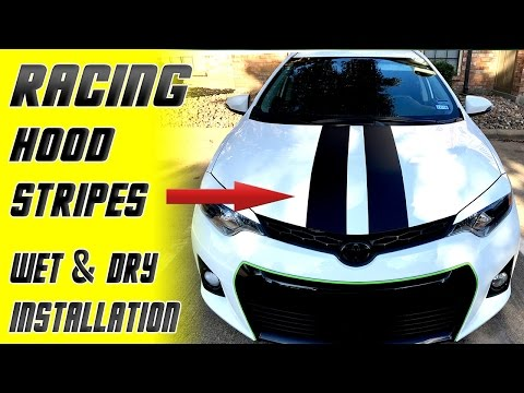 Racing Hood stripes Installation - wet & dry method