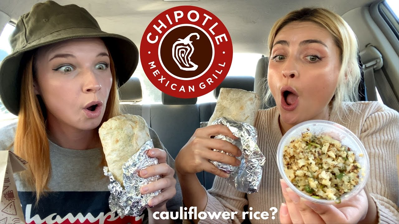 CHIPOTLE MUKBANG! Trying the New Cauliflower Rice