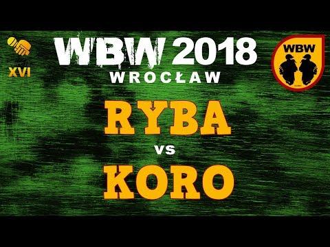 bitwa RYBA vs KORO # WBW 2018 Wrocław (1/4) # freestyle battle
