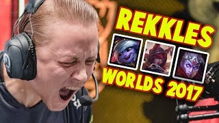 Everything REKKLES did at WORLDS 2017 (JEBAITED ?!) | FNATICS WORLDS HIGHLIGHTS || #LeagueOfLegends