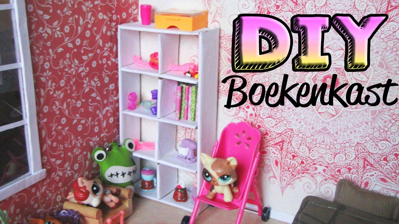 diy hoe maak je een boekenkast poppenhuis craft handmade youtube