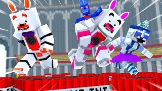 Who Will Win These Fun Party Games (Minecraft Fnaf Roleplay Adventure)