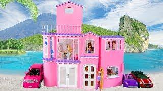Rapunzel Barbie Doll Dream House Morning Yoga New Dress Maison de poupée Matin Rumah boneka