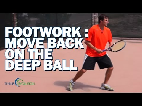TENNIS FOOTWORK LESSON | Tennis Footwork To Handle Deep Balls