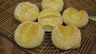 Domowe Bułki Dzielone na dwa sposoby tradycyjne i nocne (ciasto wyrasta w lodówce)