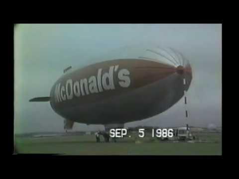 RARE 30 year old video of McDonalds Blimp Republic Airport 1986