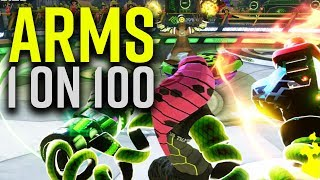 ARMS 1 on 100 with Hedlok - Nintendo Switch