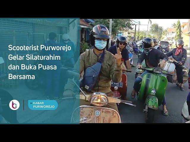 Scooterist Purworejo Gelar Silaturahim dan Buka Puasa Bersama