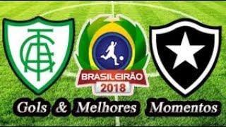 América-MG x Botafogo - Gols & Melhores Momentos Brasileirão Serie A 2018 6ª Rodada