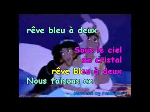 Ce Rêve Bleu - Aladdin - Karaoké FKA