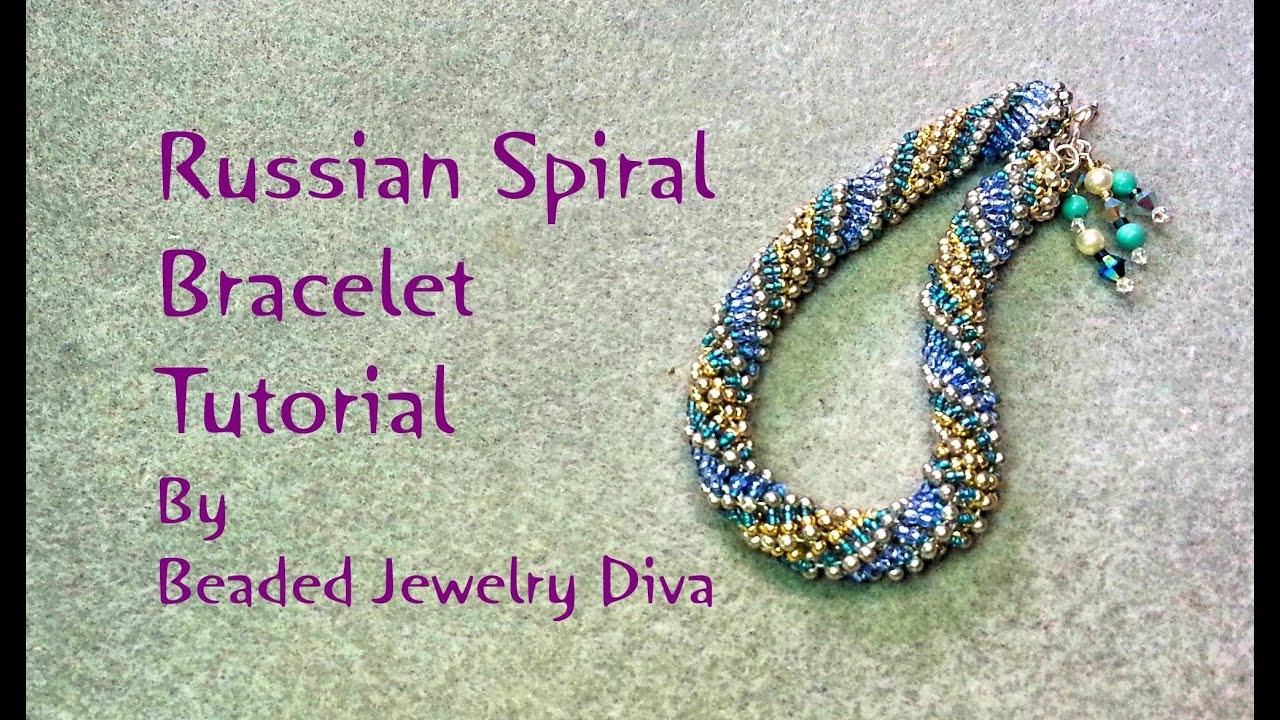 Beading Tutorial Russian Spiral Bracelet