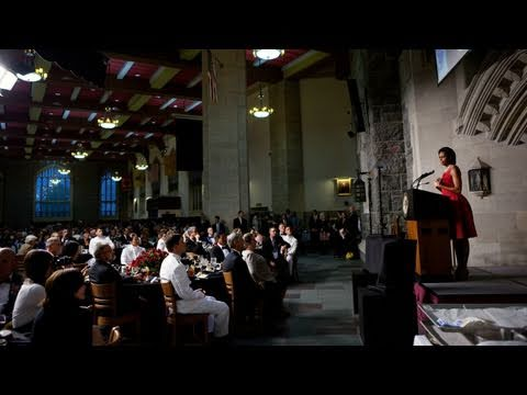 First Lady Michelle Obama Speaks at West Point Graduation Banquet