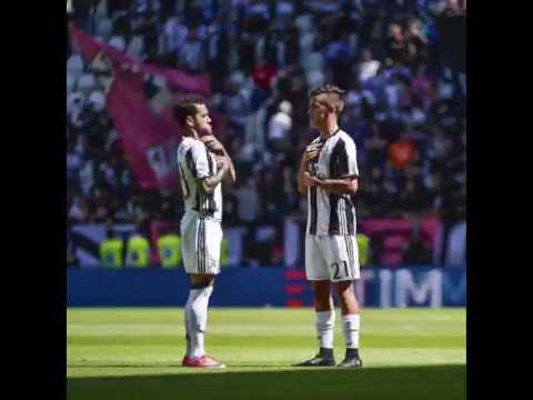 Paulo Dybala &  Dani Alves Scudetto Handshake . Juventus wins his 6 Scudetto