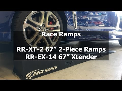 "Race Ramps - RR-XT-2 67"" Ramps / RR-EX-14 67"" Xtender Car Service Ramps"