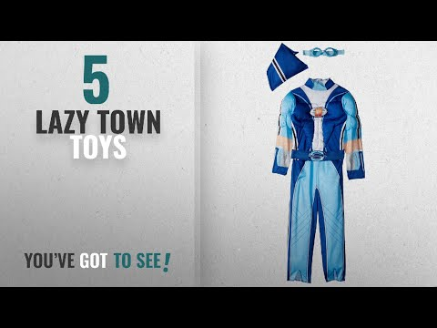 Top 10 Lazy Town Toys [2018]: Sportacus Toddler Muscle Lazy Town Cartoon Network Costume, One Color,