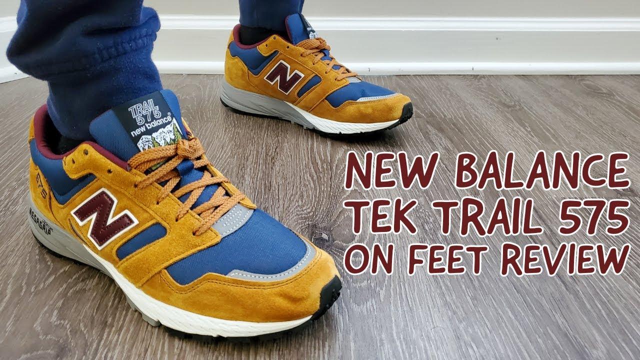 New Balance 575 Tek Trail Tan Brown On Feet Review (MTL575TB)