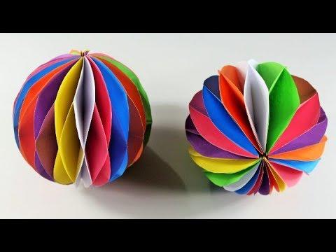 কাগজ দিয়ে স�ন�দরভাবে মৌচাক বল বানানো শিখ�ন ! How to Make a Beautiful Honeycomb Ball With Paper :
