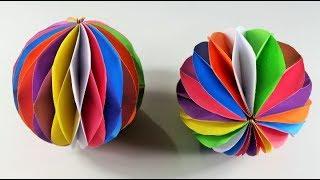 কাগজ দিয়ে সুন্দরভাবে 'মৌচাক বল' বানানো শিখুন ! How to Make a Beautiful Honeycomb Ball With Paper :