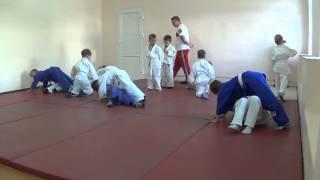 1.11.15 Открытое занятие по дзюдо: разминка в парах. 5 лет. Centre Judo Kids. Feodosiya
