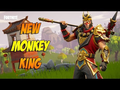 Fortnite - New Wukong Banana Man Skin & Dragon Axe Gameplay!