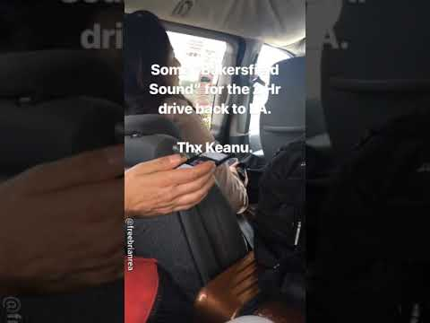Keanu Reeves & co-passengers' road trip back to L.A. - Mar 2019