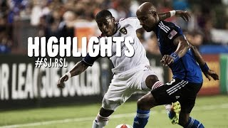 HIGHLIGHTS: San Jose Earthquakes vs. Real Salt Lake | August 30, 2014