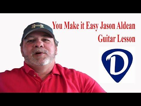 You Make It Easy-Jason Aldean-Easy Beginner-Guitar Lesson-Tutorial