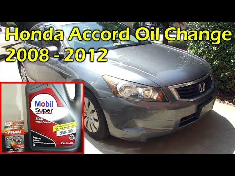 Honda Accord Oil Change 2008 - 2012