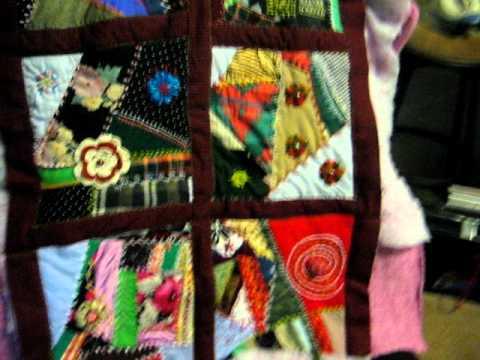 Colcha o edredon con puntadas decorativas a mano youtube - Como hacer una colcha de tela ...