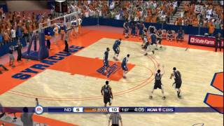 NCAA Basketball 10 (PS3) Notre Dame vs. Syracuse CPU game - FIRST HALF