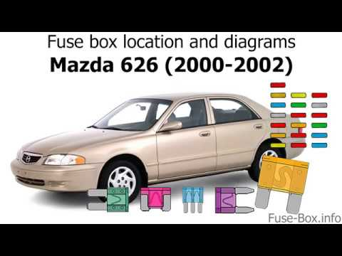[SCHEMATICS_48IS]  Fuse box location and diagrams: Mazda 626 (2000-2002) - YouTube | Mazda 626 Fuse Box Location |  | YouTube