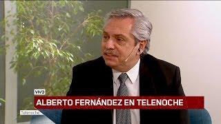 Alberto Fernández en Telenoche, la entrevista completa