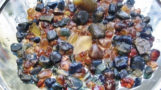 How to FIND SAPPHIRES - Identfying The Good Wash   Liz Kreate