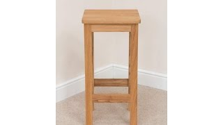 Baltic Timber Seat Solid Bar Stool
