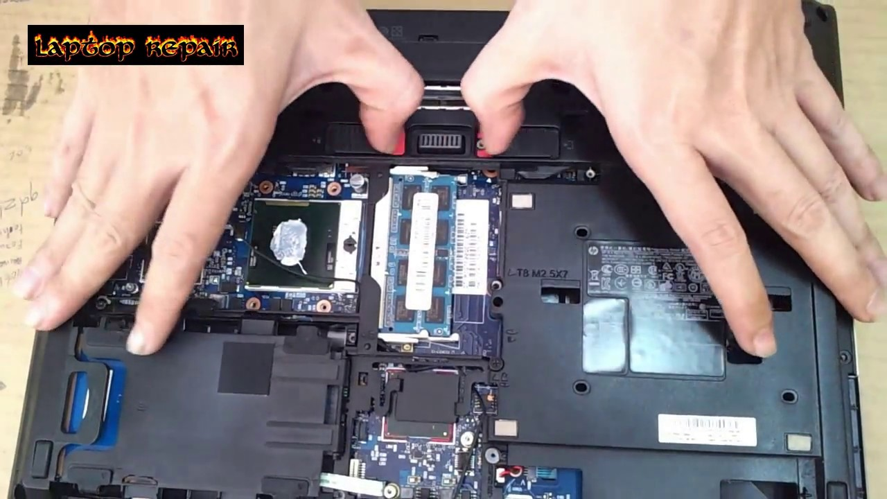HP Elitebook 8460p - Disassembly and Fan Cleaning - Laptop repair