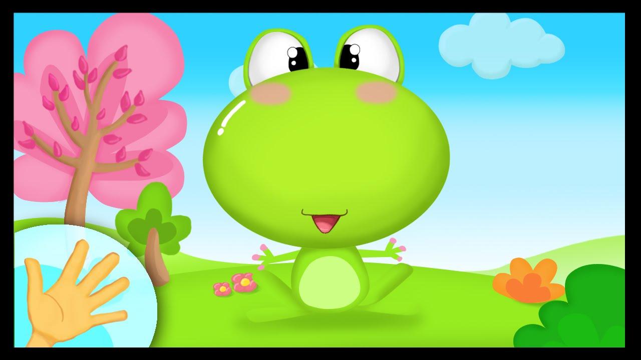 Comptinette de la grenouille comptine gestes youtube - Les petites assiettes la fourchette ...