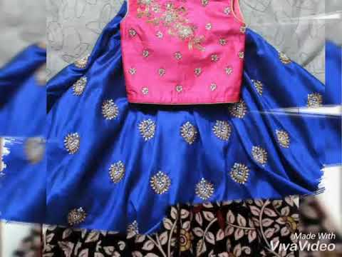 Latest Langa Blouse Designs/Lehenga choli collection for kids girls