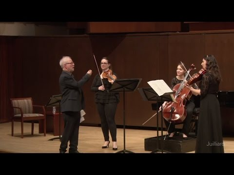 Mozart Divertimento in E-flat Major, K. 563 | Juilliard Joel Smirnoff Chamber Music Master Class
