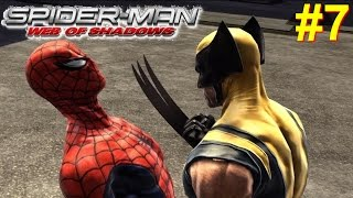 Spider-Man Web Of Shadows Gameplay #7 [Spidey vs Wolverine]
