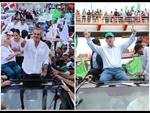 """Luis Abinader y Leonel Fernández encabezan """"Marcha por la Democracia"""""""