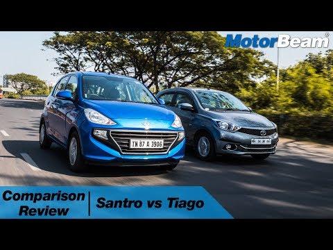 Hyundai Santro vs Tata Tiago Best Small Car MotorBeam