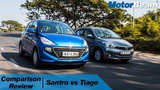 Hyundai Santro vs Tata Tiago - Best Small Car? | MotorBeam