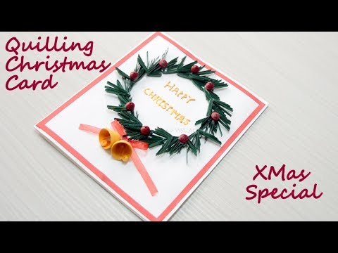 How to make Christmas Cards | DIY Paper Quilling Greeting Card | AV VISUALS
