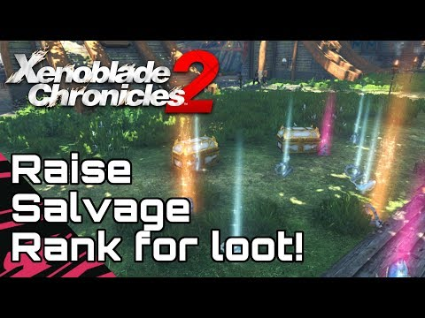 XENOBLADE CHRONICLES 2! Raise your Salvager Rank for Premium Cylinders!